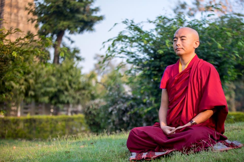 Mingyur meditating